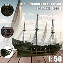 Jecenka 3D Pirate Ship Model Kit de barco Pirate Full Scene Black Pearl Sailing Ship Boats Model Kit DIY Crafts 1:50 Scale Wooden Model Ship Kit para adultos y niños