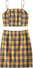 Best yellow plaid crop top Reviews