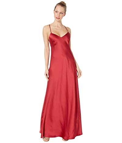 BCBGMAXAZRIA V-Neck Gown Dress (Rogue) Women