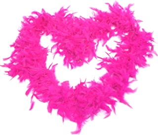 GiftExpress 6' Medium Weight Chandelle Feather Boa Hollywood Style Costume Accessory Vivid Solid Color