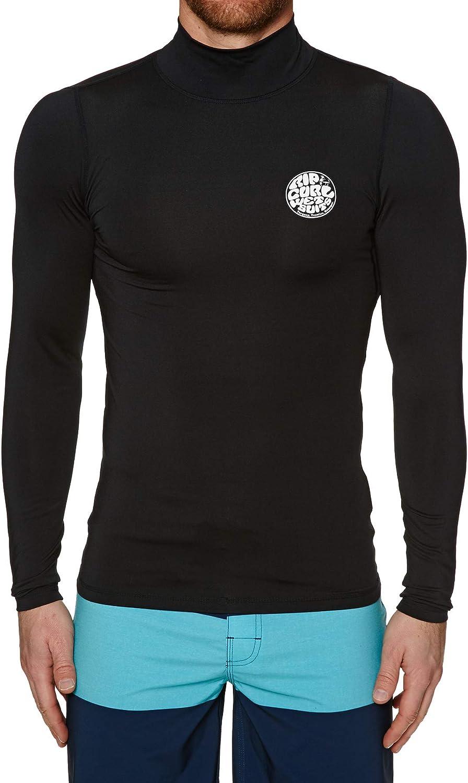 Popularity Rip Curl Corpo Long Sleeve High Neck Black Su - UV Rash Top Vest Finally popular brand
