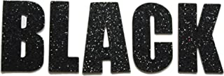 Black Metallic Glitter HandCut Chipboard Letters Alphabet set Sickers Impact 2