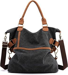 Myhozee Handtasche Damen Tashcen Groß Umhängetasche Strandtasche Schultertasche Vintage Multi-Beutel Damenhandtasche Groß Hobo Bag Shopper, Schwarz, 15x41x45 cm