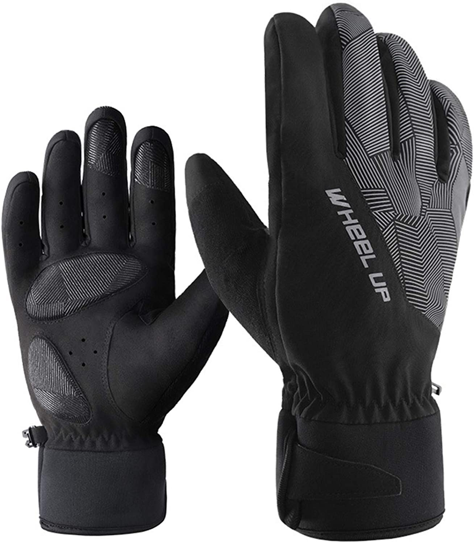 Ski Gloves Snow Waterproof Breathable Insulation Fleece Windproof Men /& Women