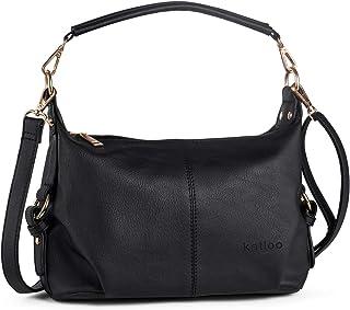 05e9434499 Shoulder Purse for Women PU Leather Small Hobo Handbag Top Handle Bag  Crossbody Brown + Katloo