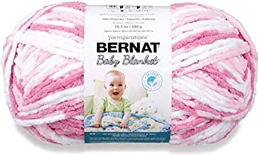 bernat baby blanket yarn big ball pink
