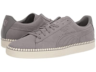 PUMA Suede Classic Blanket Stitch (Charcoal Gray/Whisper White) Shoes