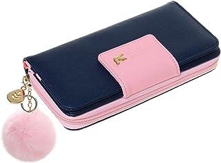 Wallet-NEWANIMA Women Multi-card Two Fold Long Zipper Clutch Purse