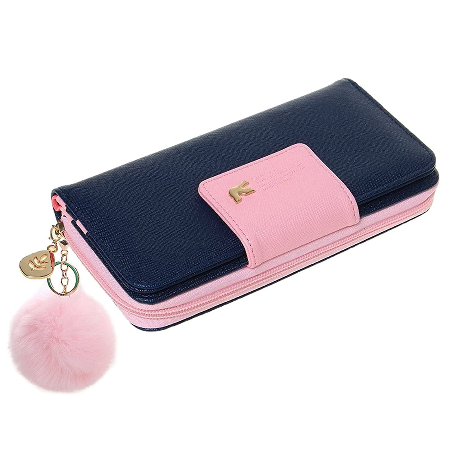 Wallet-NEWANIMA Women Multi-card Two Fold Long Zipper Clutch Purse