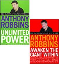 Tony Robins 2 Books Collection Set (Awaken The Giant Within How to Take Immediate Control of Your Mental,Emotional,Physical & Unlimited Power The New Science of Personal Achievement)
