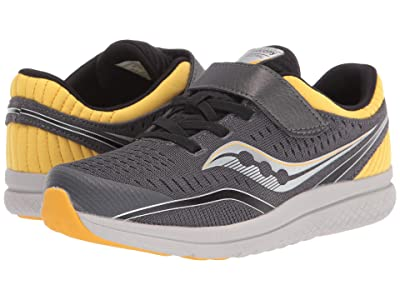 Saucony Kids S-Kinvara 11 A/C (Little Kid/Big Kid) (Black/Grey Pinstripe Textile) Boys Shoes