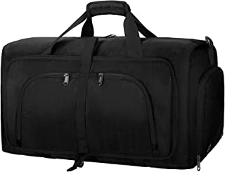 Duffel Bags for Traveling, 65L Carry on Foldable Weekender Overnight Bag for Men Women Waterproof Weekend Travel Duffle Ba...