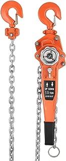 VEVOR Chain Block 1.5T Ratchet Lever Block Chain Hoist Manual Lever Chain Hoist Come Along Chain Puller 10 Ft Lift (10ft)