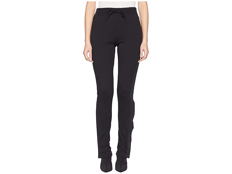 Image of adidas Y-3 by Yohji Yamamoto 3 Stripes Firebird Track Pants (Black/Core White) Women's Casual Pants