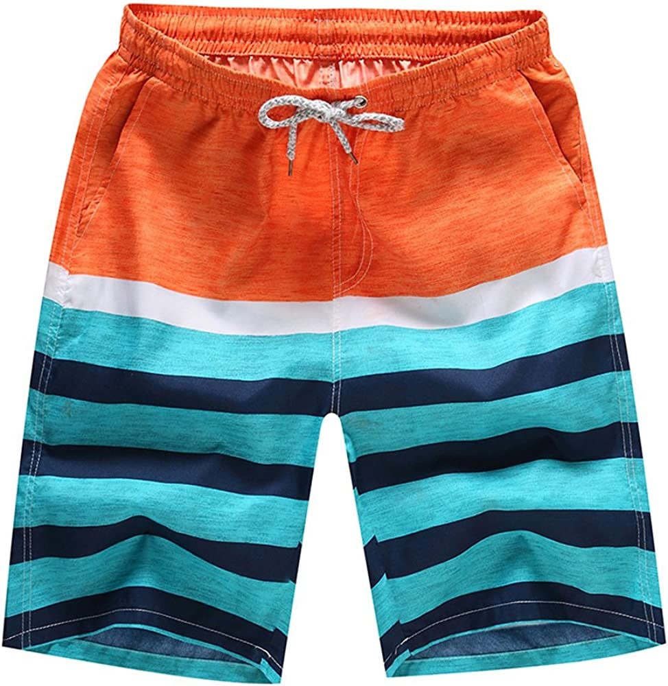 VEKDONE Mens Swim Trunks Quick Dry Surf Board Shorts with Pockets Casual Summer Beach Shorts