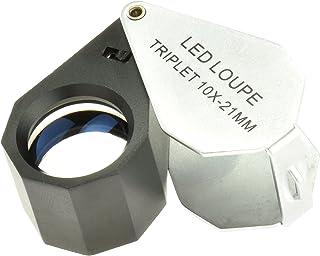 SE Professional Quality 10x 21 mm LED Triplet Loupe - MJ37801L