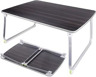 NEARPOW ローテーブル 折りたたみ 折れ脚 ローデスク アウトドアテーブル 70*50*32.5CM 座卓 ミニテーブル 多機能 コンパクト 軽量 食事 勉強 ピクニック キャンプ 用 (ブラック)