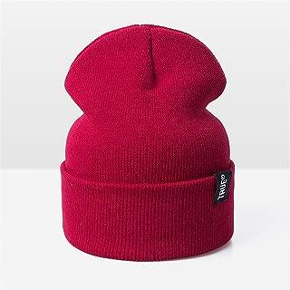 Donna Pierce Men Skullies Beanies Women Fashion Warm Cap Unisex Elasticity Knit Beanie Hats Drop Shipping E Red
