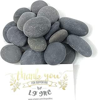 LF Inc. Premium Small Flat Black Mexican Beach Pebbles 1/2-1 inches, Decor, Garden, Landscape, (40)