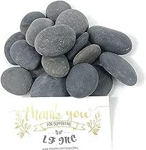 LF Inc. 5LB Premium Small Flat Black Mexican Beach Pebbles 1/2-1 inches, Decor, Garden, Landscape