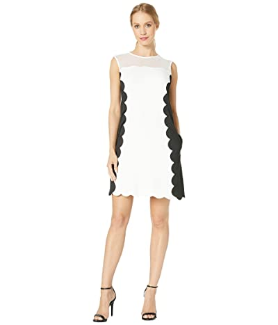 Nicole Miller Scuba Dress (White/Black) Women
