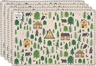 Now Designs 1741063aa Placemats, Set of Four, Wild and Free Print, 4 Piece