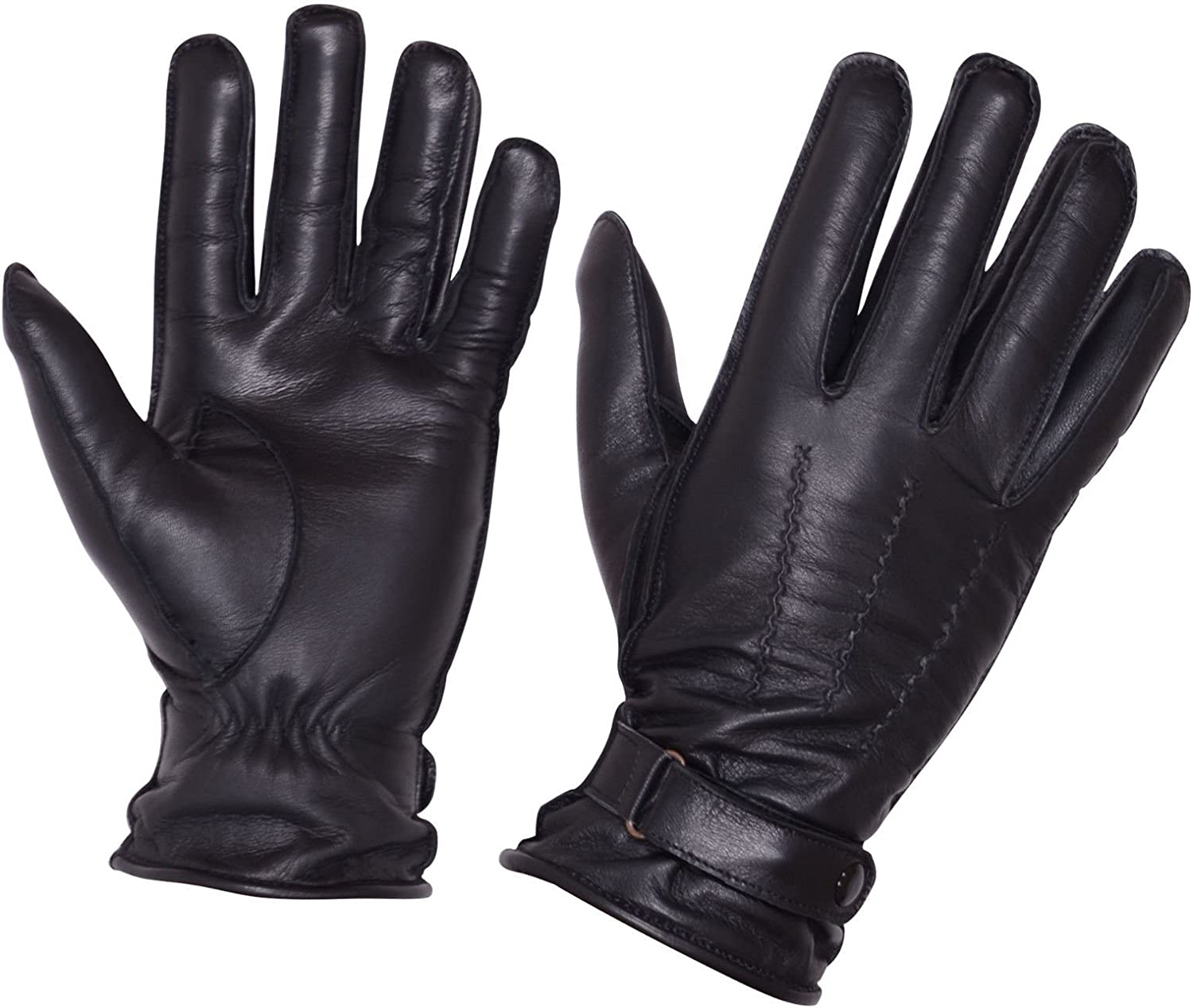 Men Cheap super Large discharge sale special price Cold Weather Dress Gloves Driving Genuine Bla Leather