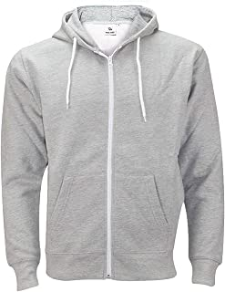 Mens Hoodies Zip Up Tall.Mens Autumn Winter Pure Color Pocket Open a hat Zipper Hooded Jacket Top Coat