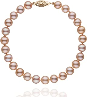 6.5-7.0 mm Pink to Peach Freshwater AAA Cultured Pearl Bracelet