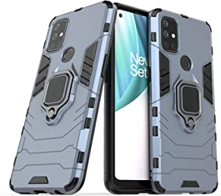 FanTing Case for OnePlus Nord N10 5G, Rugged and shockproof,with mobile phone holder, Cover for OnePlus Nord N10 5G-Dark Blue