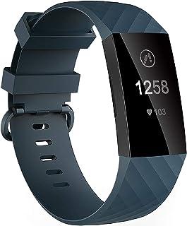 أربطة Velavior مضادة للماء لجهاز Fitbit Charge 3 / Fitbit Charge 4 / Charge3 SE ، أساور معصم بديلة للنساء والرجال مقاس صغي...