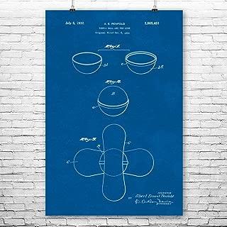 Patent Earth Tennis Ball Poster Print, Tennis Decor, Tennis Player Gift, Tennis Coach Gift, Tennis Club Art, Tennis Art Print Blueprint (12