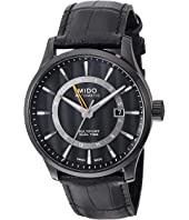 Mido - Multifort Gmt with Black PVD Case and Black Leather Strap - M0384293605100