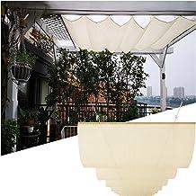 PENGFEI Intrekbare Pergola Luifel Schaduw Cover, Outdoor Wave Shades Covers voor Patio Deck Hotel Luifel, Schaduwzeil met ...