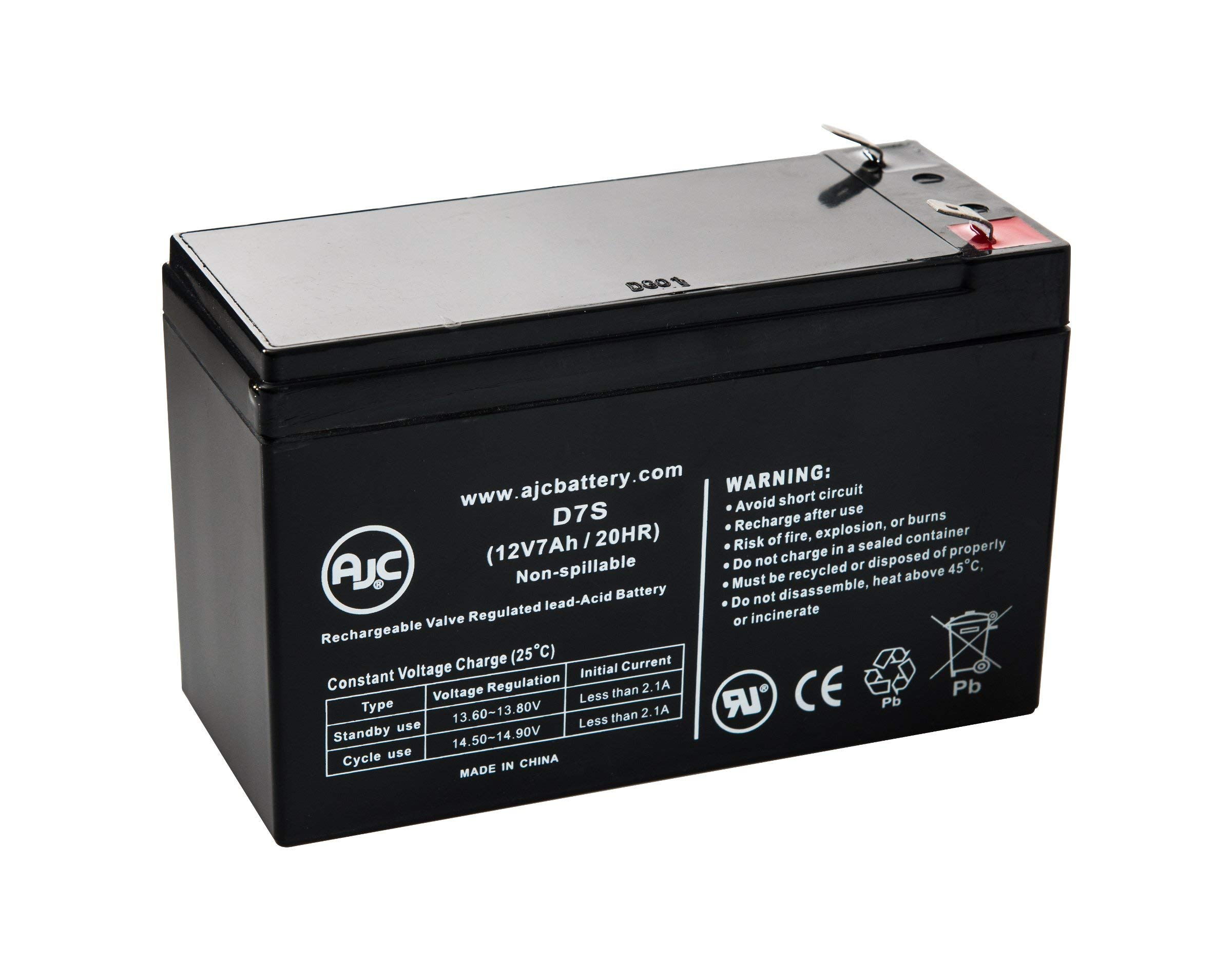 Injusa Two Evasion Jeep 12V 7Ah Scooter Replacement Battery