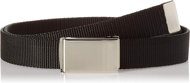 Buckle-Down Men's Web Belt Black, Multicolor, 1.25