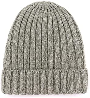 HongJie Hou Wool hat Female Knit hat Warm Fashion Simple and Simple Hooded Cap (Color : Grey, Size : M56-58cm)