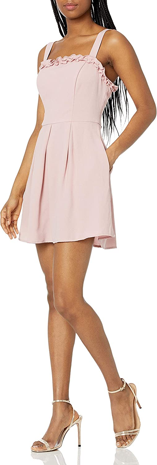 Speechless Women's Pleated Fit and Flare Dress