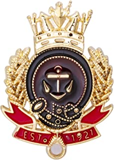 AN KINGPiiN Lapel Pin for Men British Royal Navy Chief Petty Officer's Badge Brooch Suit Stud, Shirt Studs Men's Accessories