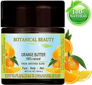 ORANGE OIL BUTTER RAW. Orange essential Oil, Orange wax, Soybean Oil.100% Natural VIRGIN UNREFINED. 4 Fl oz - 120 ml. For Skin, Hair, Lip and Nail Care.