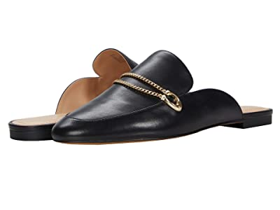 COACH Sawyer Leather Slide Loafer (Black) Women