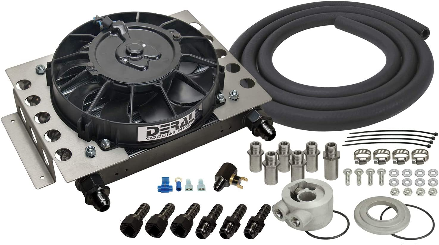 Derale 15450 Atomic-Cool Year-end gift Black Cooler Remote 4 years warranty