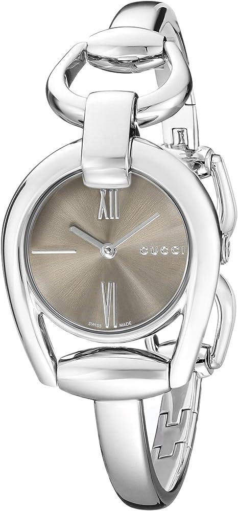 Gucci orologio da donna in acciaio lucido con chiusura per gioielli YA139501