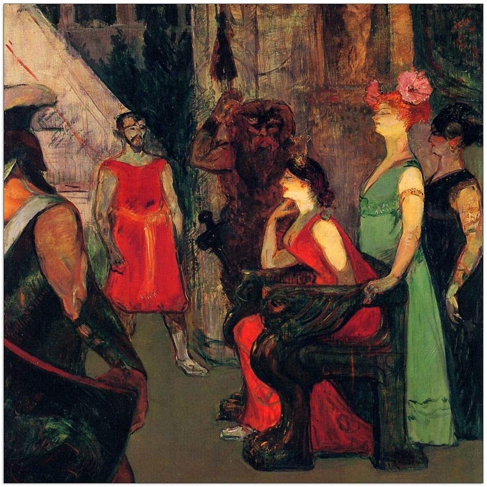 ArtPlaza Toulouse-Lautrec - Inventory cleanup selling sale Bargain sale Messaline sitting on throne a Decora