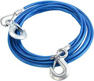 Heavy Duty sleepkabels 4M 5 Tons aderige kabel High Strength Safety Hook Steel Wire Aanhangers Emergency Towing Rope (Colo...