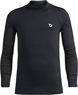 Youth Boys' Compression Thermal Shirt Fleece Baselayer Long Sleeve Mock Top