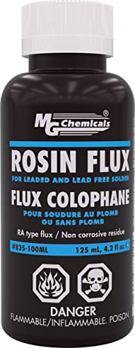 MG Chemicals - 835-100ML Liquid Rosin Flux, for Leaded and Lead Free Solder, 125 ml Bottle