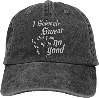 I Solemnly Swear I'm Up to No Good Adult Dad Hat Baseball Hat Vintage Washed Distressed Cap