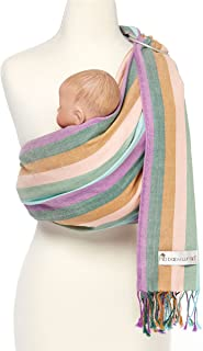 Hip Baby Wrap Ring Sling Baby Carrier for Infants and Toddlers (Sea)