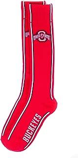 NCAA Ohio State Buckeyes Helmet Stripe Red Dress Socks